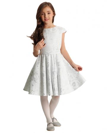Mädchen Kleid Festlich Einschulung Hochzeit silber