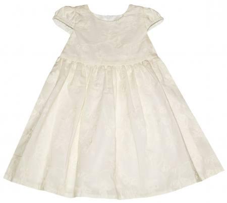on sale 6e594 d2007 Baby Mädchen Kleid Festlich Taufe Hochzeit bestickt Baumwolle Ecru Vanille
