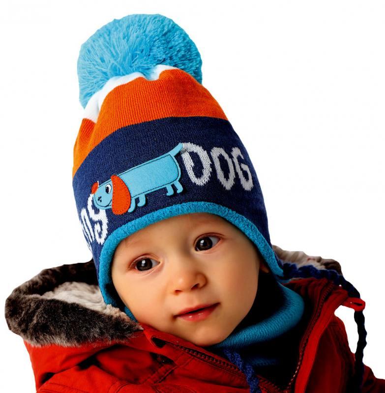 0c09efae44 AJS Baby Jungen Kinder Winterset Set Wintermütze Loopschal Streifen Bunt