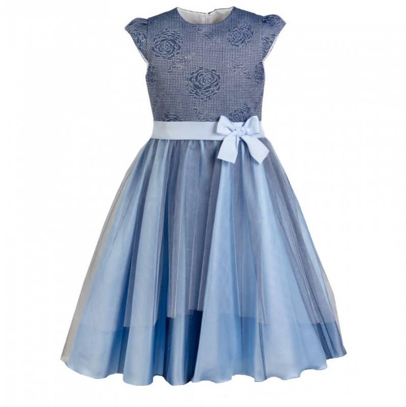 herausragende Eigenschaften Brandneu großer Abverkauf AL-DA Mädchen Kleid Festlich Einschulung Hochzeit Tüll Blau
