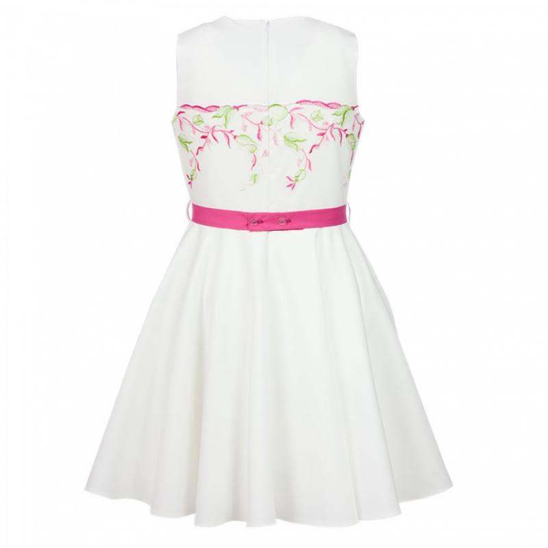 2a59e3c1b204 AL-DA Mädchen Kleid Festlich Hochzeit Einschulung Jugenweihe weiß