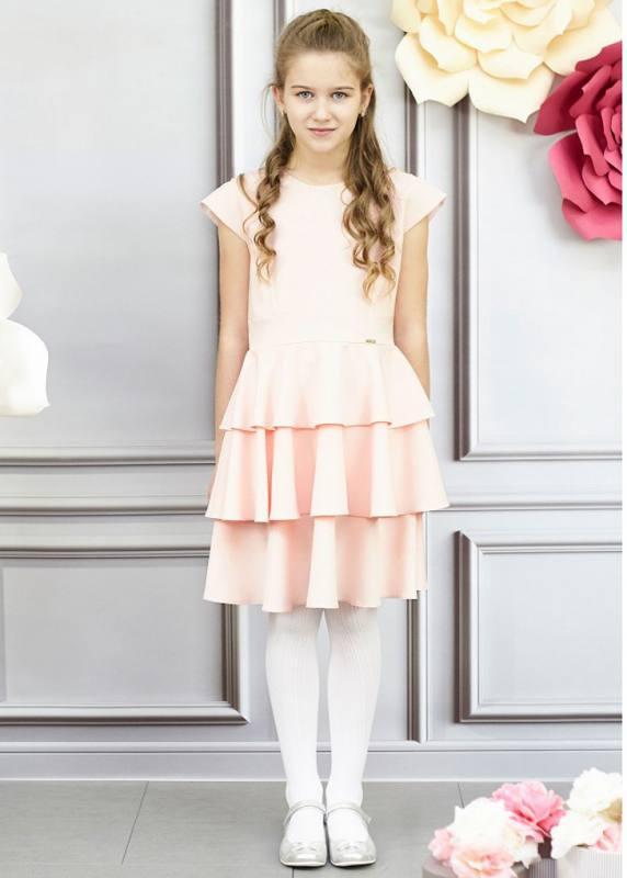 Mädchen Kleid Hochzeit Jugendweihe Einschulung Rosa