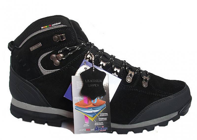 half off 9f1a6 b56d9 American Club Herren Schuhe Boots Outdoor Winterschuhe Herrenschuhe Leder  Schwarz