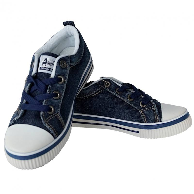 57726c7df2 Kleidung & Accessoires American Club Jungen Mädchen Freizeitschuhe  Sportschuhe Turnschuhe Jeans Blau Schuhe für Jungen