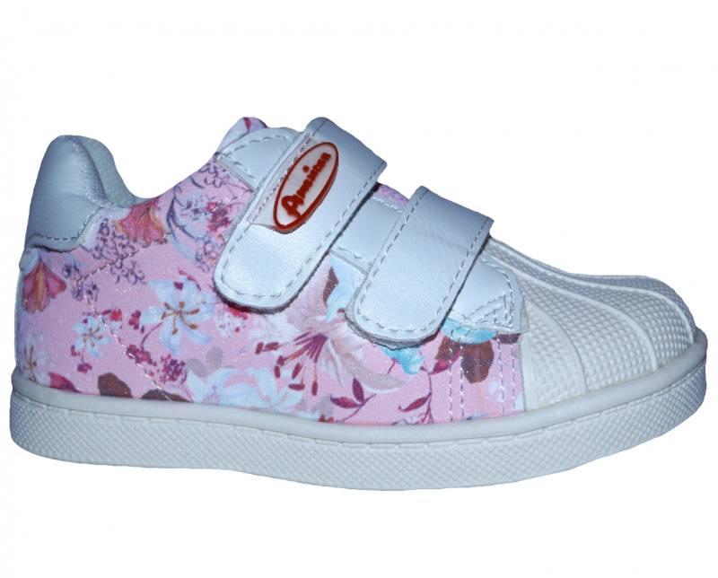 hohe Qualität 50% Preis suchen American Club Mädchen Kinderschuhe Sneaker Halbschuhe Klettverschluss Rosa
