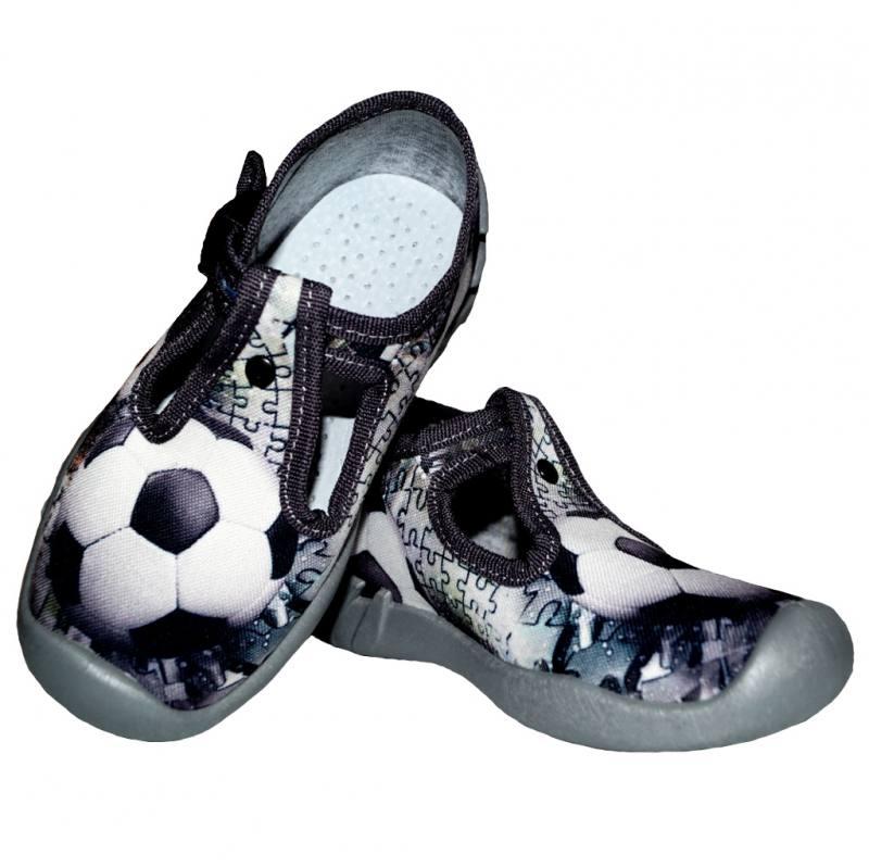 aac84ece183c4c ARS Baby Jungen Kinderschuhe Hausschuhe Textilschuhe Fußball Grau