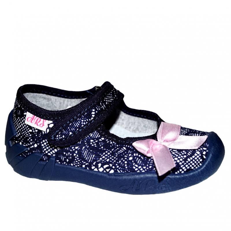 73842527052dea ARS Baby Mädchen Hausschuhe Ballerinas Klettverschluss Leder Einlegesohlen  Blau