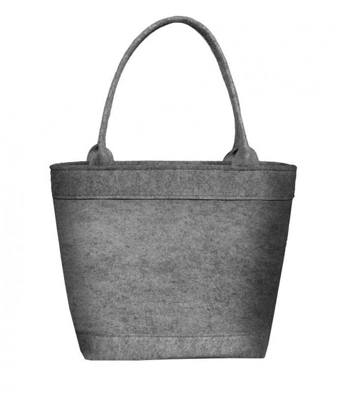 70a78f873f4ac Bertoni Damen Tasche aus Filz Schultertasche Shopper Tragetasche Filztasche  Grau