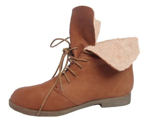 Firetrap Hays Herren Leder Stiefel Schnürstiefel Boots