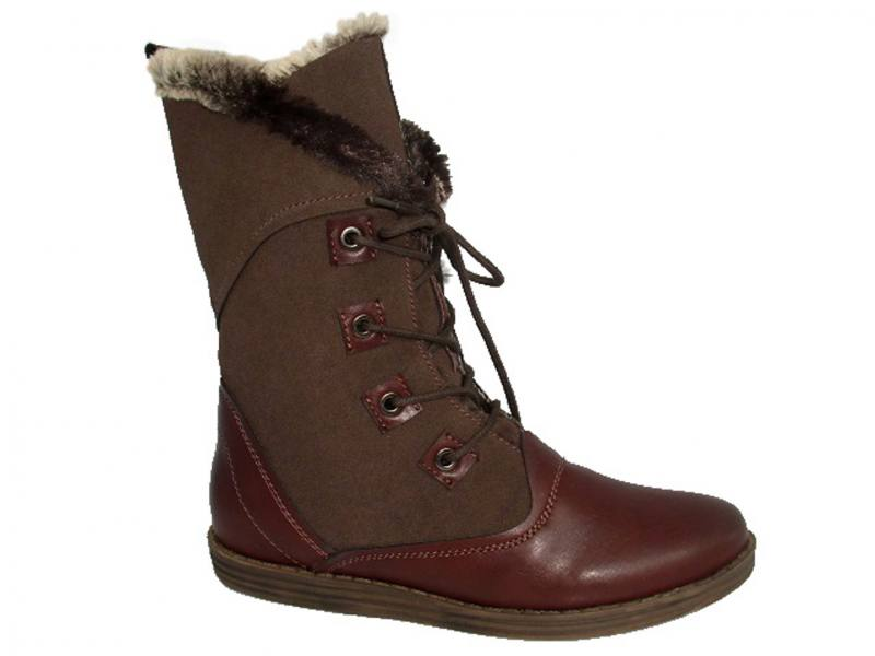 8d35f5425e5b2f Damen Winter Stiefel Stiefeletten Winterschuhe Gefütterte mit Kunstfell  Braun