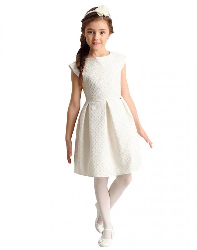 cc7acf63555c Mädchen Kleid festlich Einschulung Blumenmädchen Hochzeit Kommunion creme  weiß gold