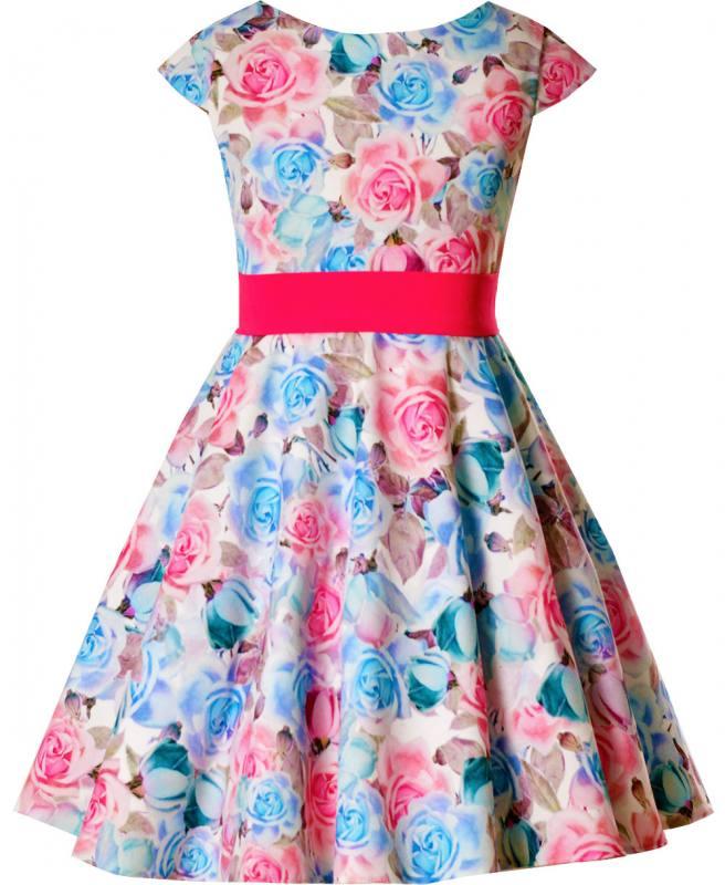 Kleid festlich pink