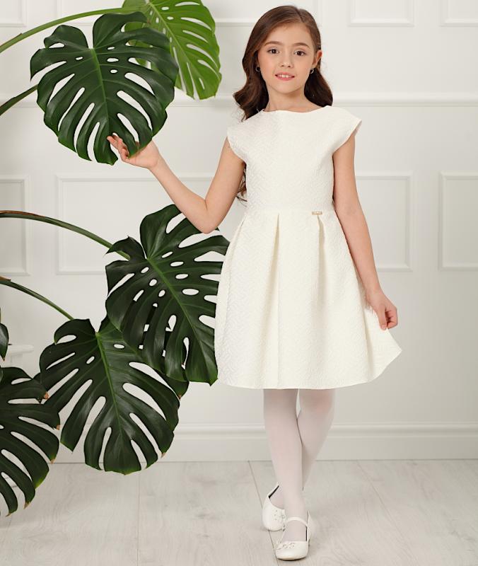 Mädchen Kleid Festlich Kommunion Blumenmädchen creme