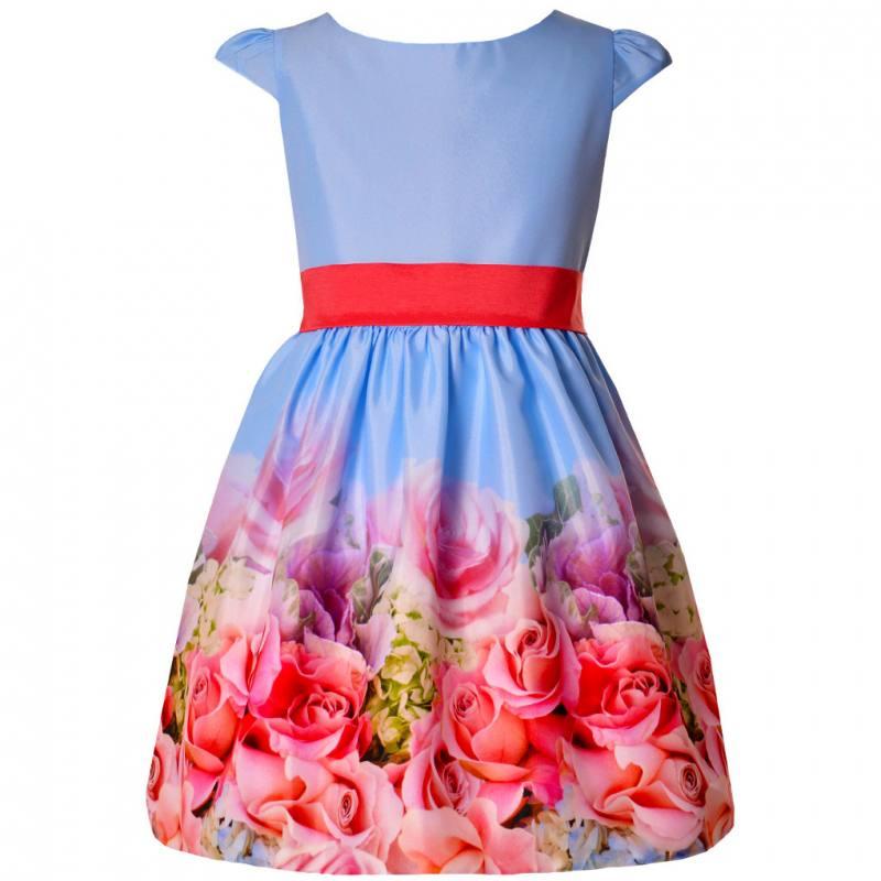 Mädchen Kleid Festlich Einschulung Jugendweihe Blau