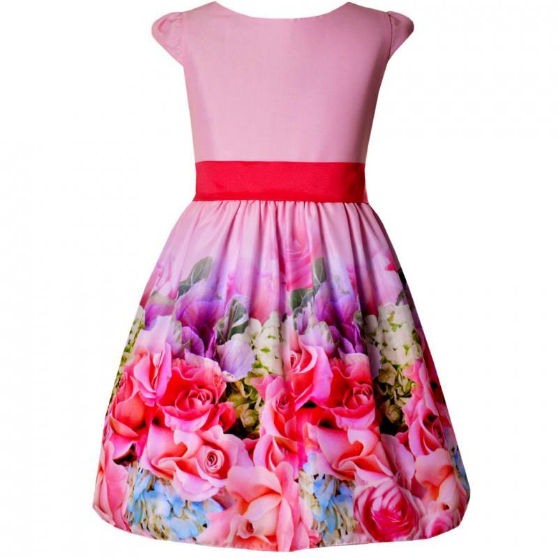 Sonderkauf Veröffentlichungsdatum: aliexpress Mädchen Kleid Festlich Hochzeit Einschulung Party Blumen Rosa