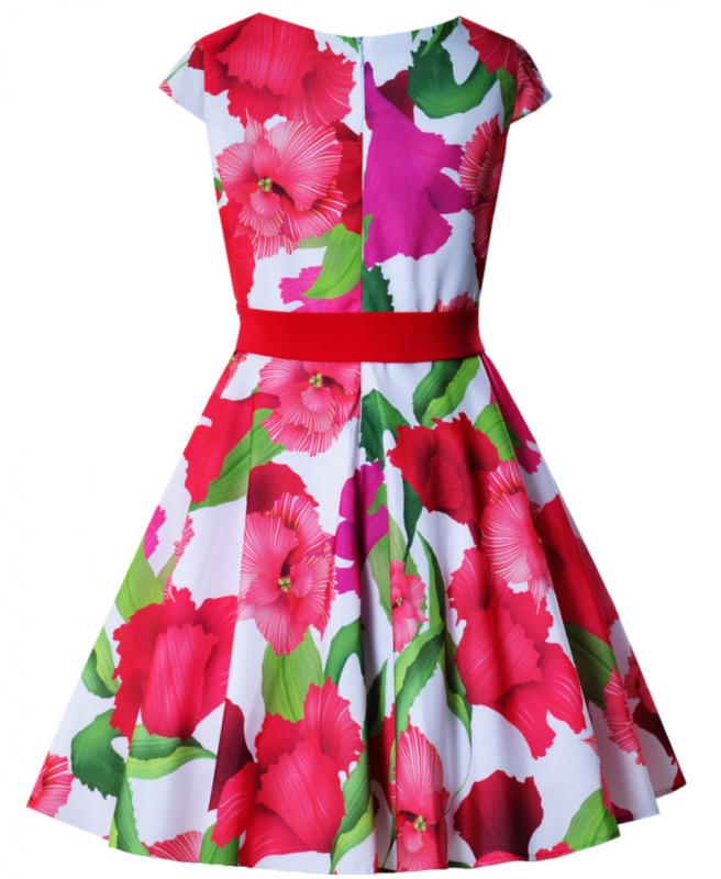 Mädchen Kleid Einschulung Blumenmädchen Sommerkleid