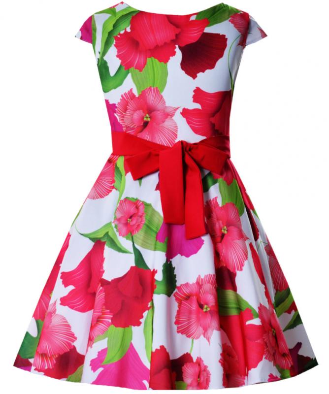 Madchen Kleid Festlich Hochzeit Einschulung Blumenmadchen Sommerkleid Blumen Ebay