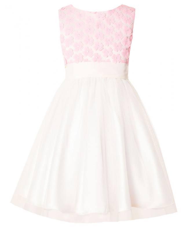 große Auswahl an Designs das beste größte Auswahl Mädchen Kleid Festlich Hochzeit Einschulung Blumenmädchen rosa weiß