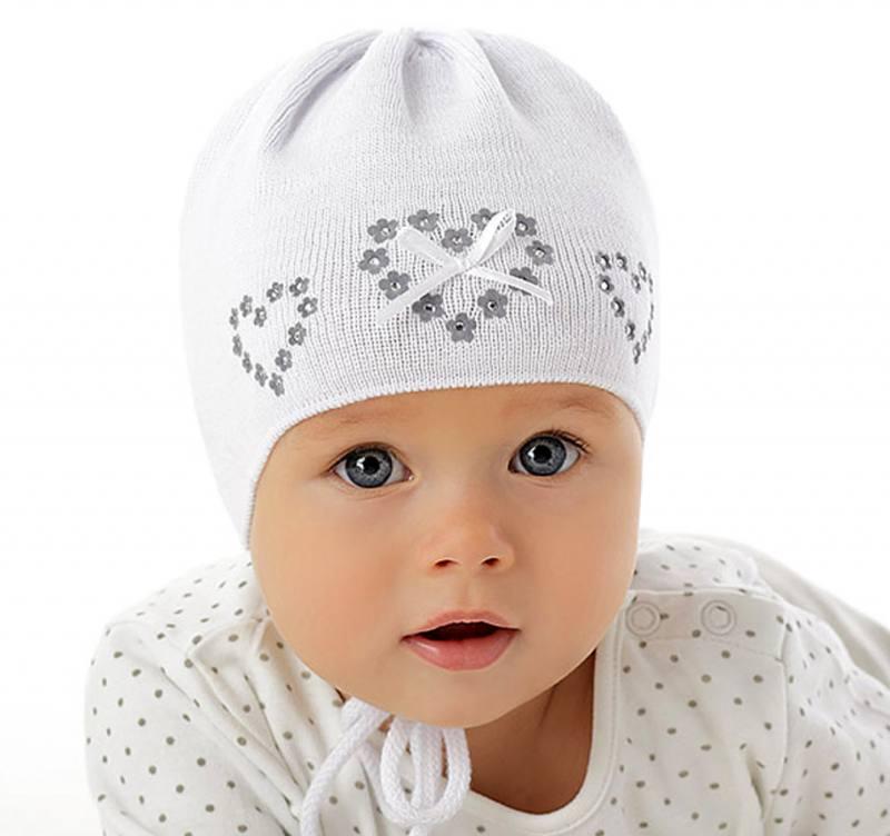 billig werden ausgereifte Technologien konkurrenzfähiger Preis Marika Baby Mädchen Strick Mütze Taufe Festlich Herz Baumwolle Weiß