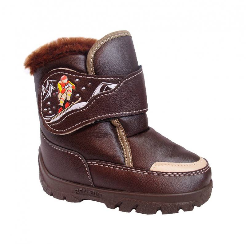 b8523316ea0c1b Renbut Jungen Kinder Boots Herbst Winterschuhe Stiefeletten gefüttert Braun