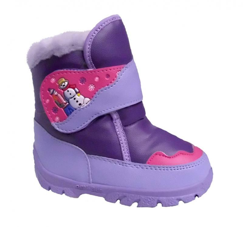 buy online e341b ae07d Renbut Mädchen Baby Kinder Boots Herbst Winterschuhe Stiefeletten gefüttert  Lila