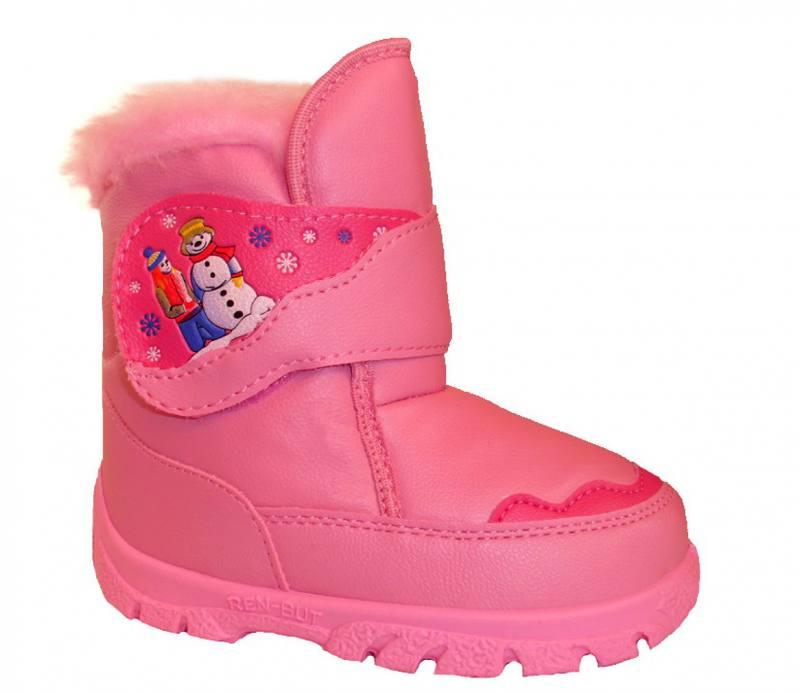 Renbut Mädchen Baby Kinder Boots Herbst Winterschuhe Stiefeletten gefüttert Rosa
