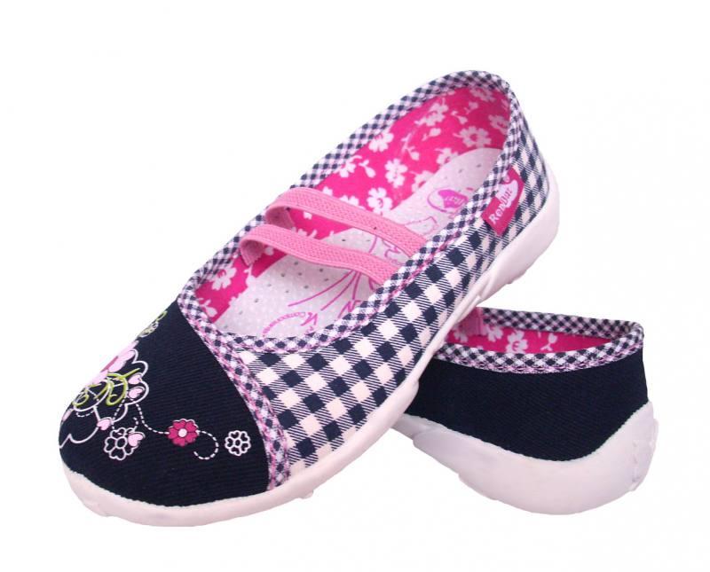 Renbut Mädchen Kinder Ballerinas Hausschuhe Kinderschuhe Einlegesohle Leder