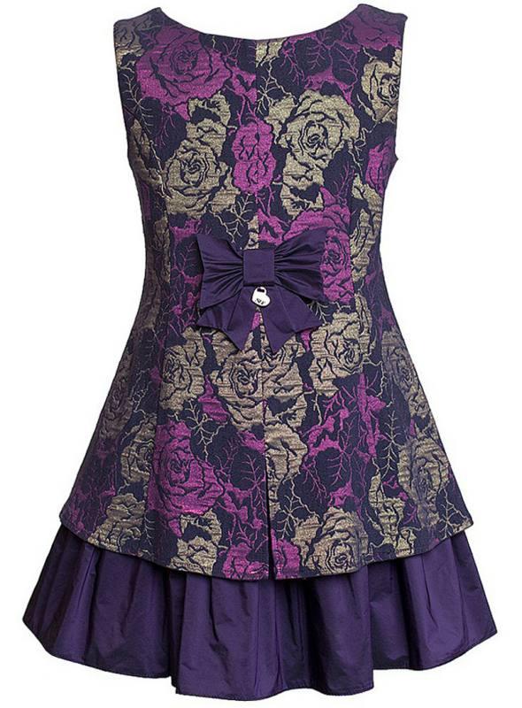 a295538443932a Sly Exklusives Mädchen Kleid Fest Einschulung Jugendweihe Violett Blau