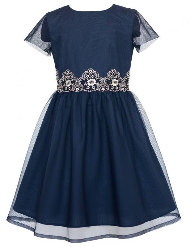 Sly Mädchen Kleid Einschulung Jugendweihe Spitze Blau