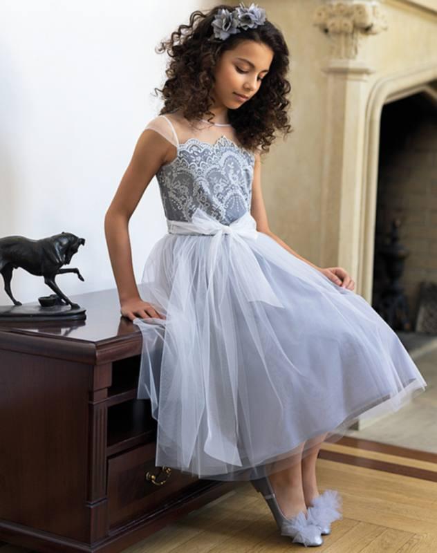 Sly Madchen Kleid Festlich Hochzeit Blumenmadchen Einschulung