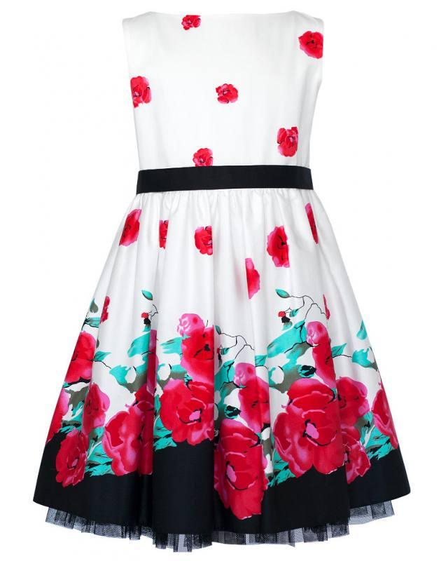 Mädchen Kleid Festlich Party Einschulung Hochzeit Blumenmädchen Punkte blau weiß