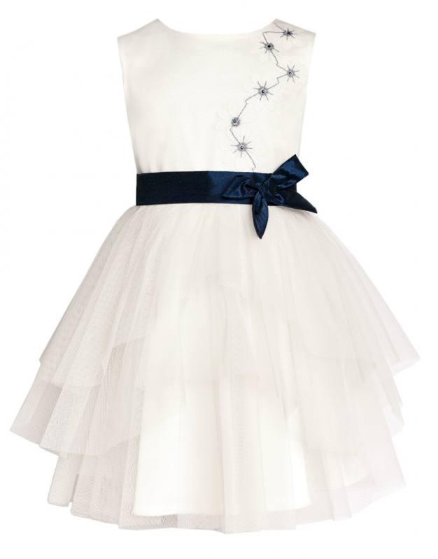 b230933c79177f Sly Mädchen Kleid Festlich Hochzeit Kommunion Jugendweihe Party Fest Weiß