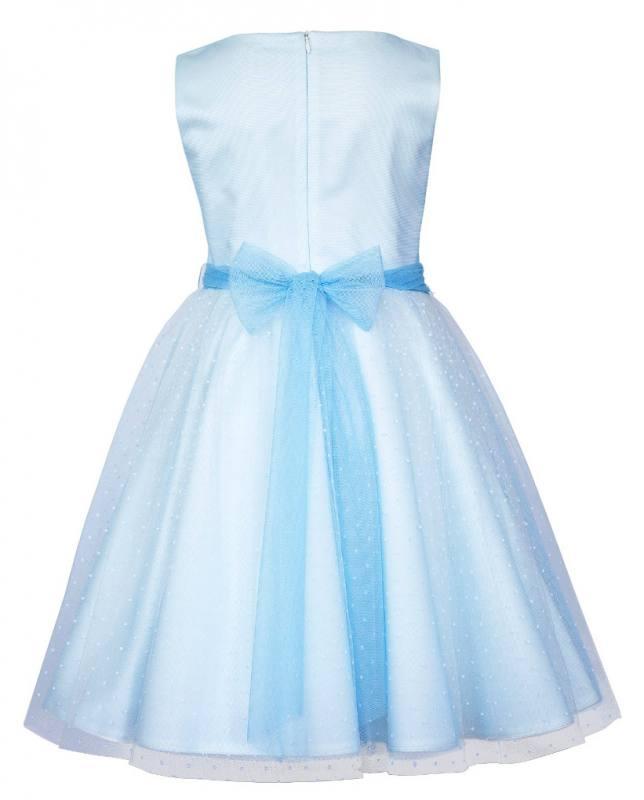Mädchen Kleid Festlich Hochzeit Kommunion Tüll Blau