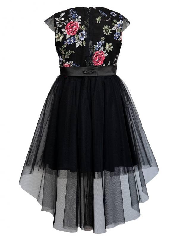Mädchen Kleid Festlich Jugendweihe Einschulung Schwarz