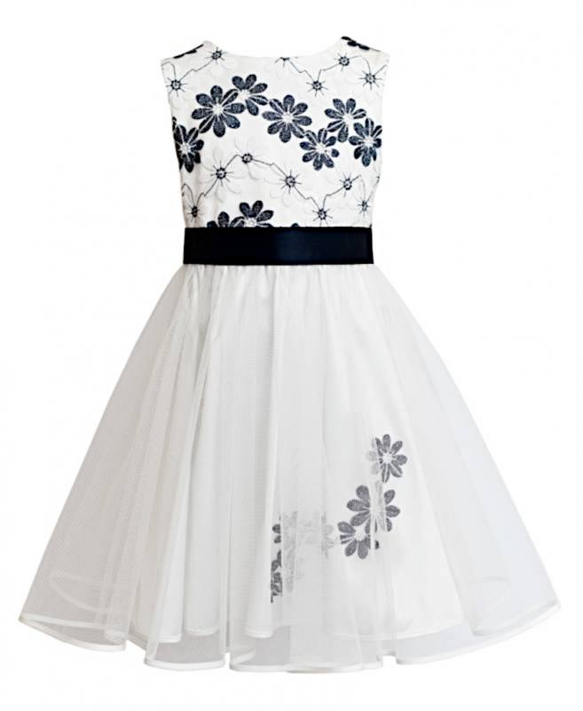 Blumenmädchen Mädchen Hochzeit Sly Party Einschulung Festlich Kleid 5L3R4Aj