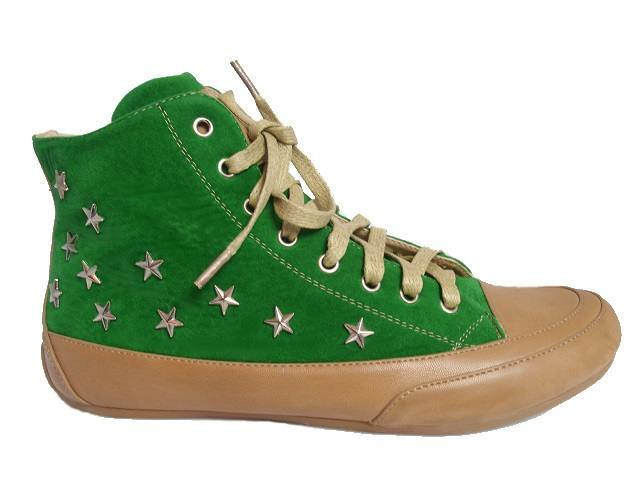 d3ab72f2447b34 adelleo.de Top Design Damen- MädchenTurnschuhe- Sneaker Grün 101109 ...